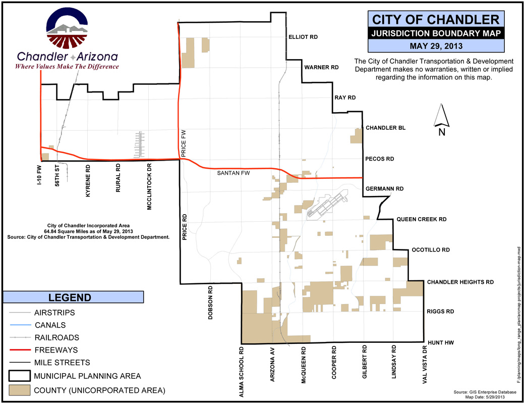 Chandler City Map City Of Chandler Map - Arizona city maps
